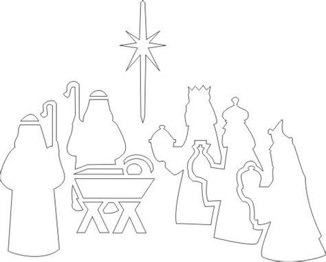 printable nativity stencils best photos of nativity cut out patterns nativity scene