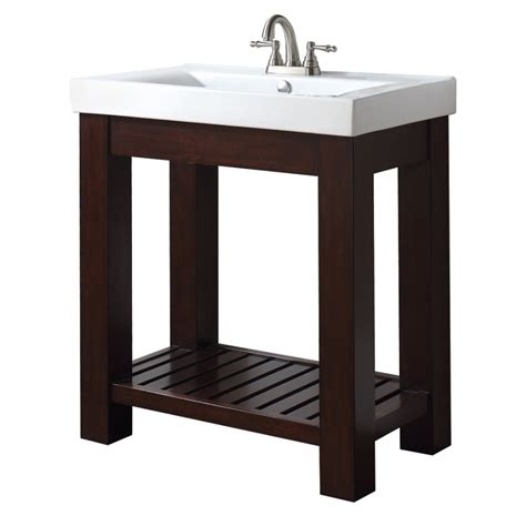 Bathroom Vanities With Shelves by 31 Inch Single Bathroom Vanity With Open Shelf