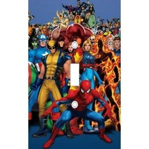 x marvel heroes decorative light switch cover plate