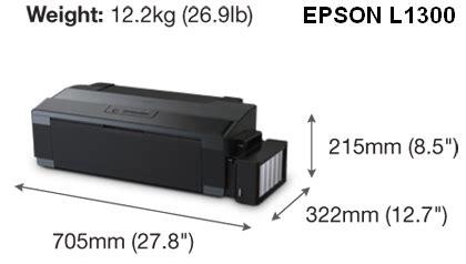 Printer Epson A3 Infus Original harga printer epson l1300 a3 infus original murah di