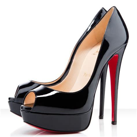 patent leather peep toe platform pumps black high heel
