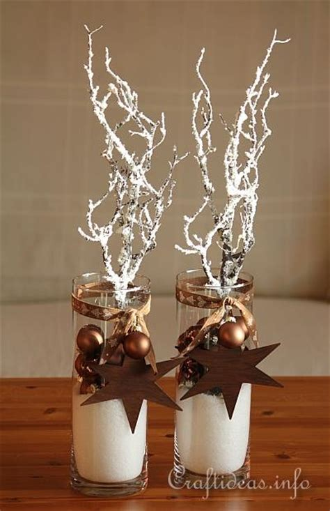 christmas and winter decoration brown centerpieces with