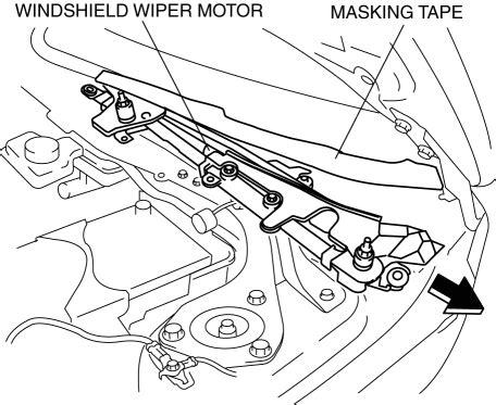 Windshield Wiper Motor Mazda 3 mazda 3 service manual windshield wiper motor removal