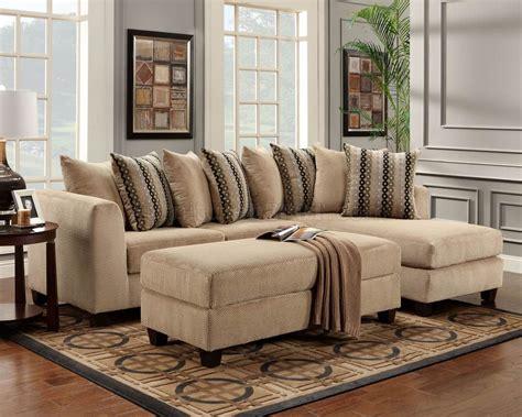 Broyhill Dining Room Sets beige fabric modern elegant sectional sofa w optional ottoman