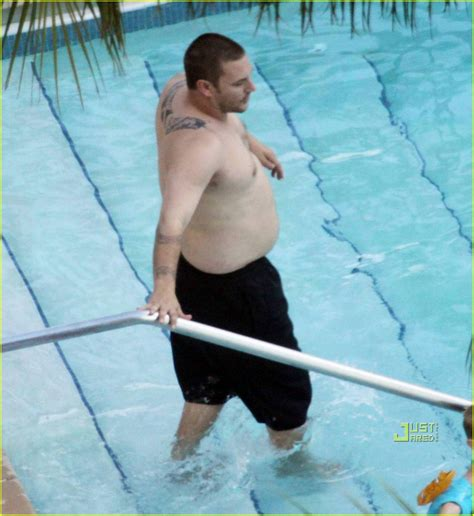 Kevin Federline Spends His Birthday At Pool With Shar Jackson by Kevin Federline Packs On The Pounds At The Pool Photo