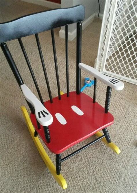 mickey mouse chair sashes diy mickey mouse rocking chair what a way to upcycle