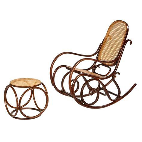 Styles Of Rocking Chairs by Mid 20th Century Thonet Style Rocking Chair And Ottoman At