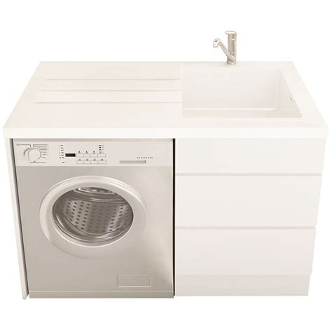 laundry white everhard bloom white laundry unit with 1 tap and