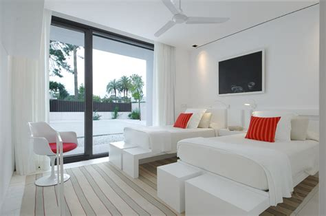 beautiful white bedrooms beautiful all white house with pool