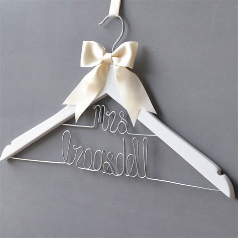 Wedding Hangers by Personalised Dual Line Wedding Dress Hanger By Clouds And