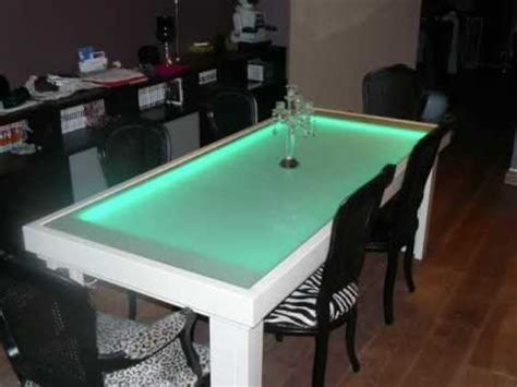 Light Up Dining Table Led Table Design Dining Table Pictures And