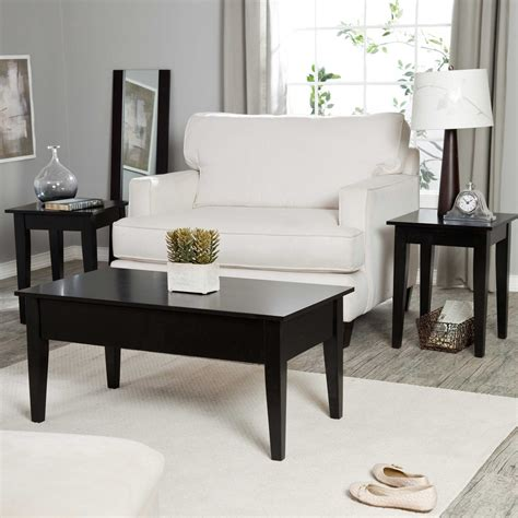 Coffee And End Table Set Black Coffee And End Table Sets Furniture Roy Home Design