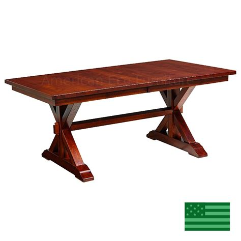 dining room tables made in usa amish solid wood heirloom furniture made in usa lincoln trestle dining table american eco