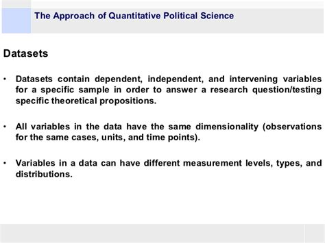 politics dissertation exles overview of the possibilities of quantitative methods in