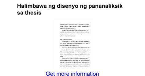 abstrak ng thesis tagalog halimbawa ng disenyo ng pananaliksik sa thesis google docs