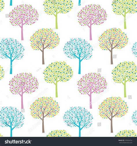 seasonal pattern en francais abstract colorful seasonal trees nature seamless 스톡 벡터