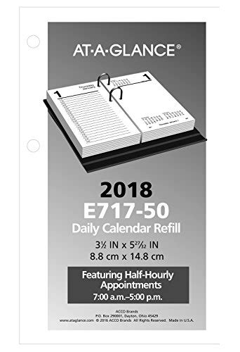At A Glance Daily Desk Calendar Refill by At A Glance Daily Desk Calendar Refill January 2018