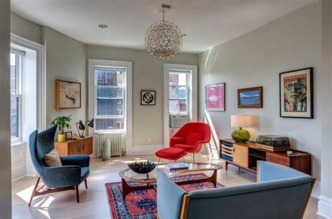 bright midcentury modern living room designs home