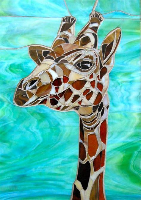 mosaic giraffe pattern giraffe mosaic greetings card mosaic art giraffe card
