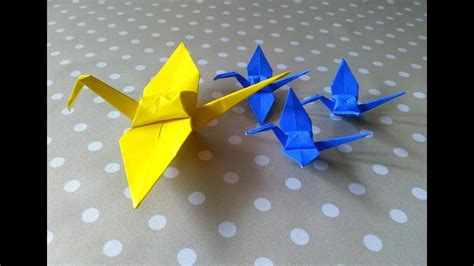 Youtube Tutorial Origami Burung | how to make bird origami tutorial cara membuat origami burung