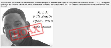 Smith Is Deceased by Will Smith Hoax Dies Faster Than Bogus Miley