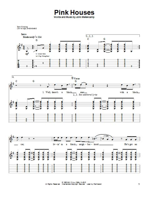 pink houses chords pink houses sheet music direct