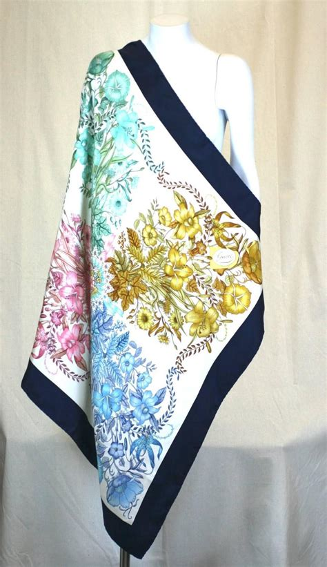 gucci floral bouquet scarf for sale at 1stdibs