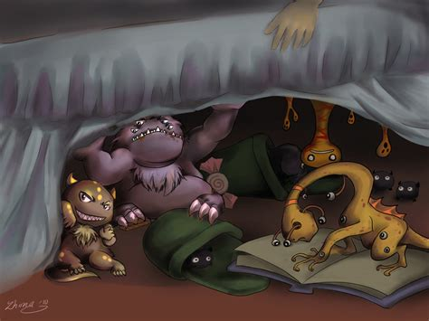monsters under the bed monsters under mah bed by ze tta on deviantart