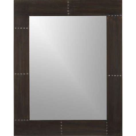 jaxon brass nailhead trim metal rectangle mirror