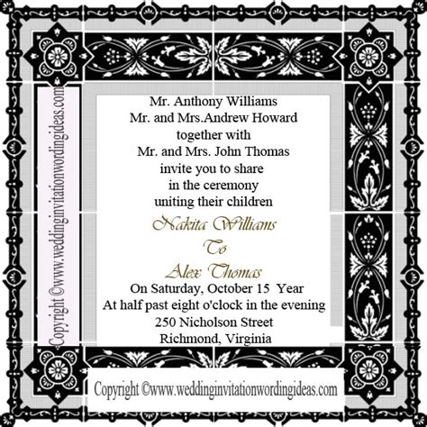 traditional wedding invite text traditional wedding invitation wording how to write
