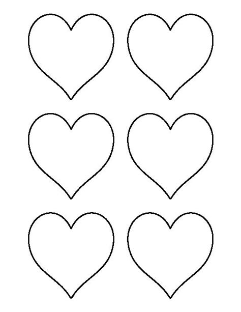 heart pattern in c 3 inch heart pattern use the printable outline for crafts