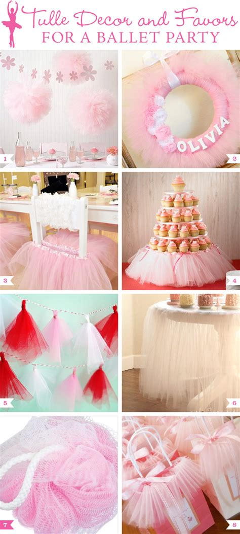 Home Decorating Made Easy by Tulle Decor And Favors For A Ballet Party Chickabug