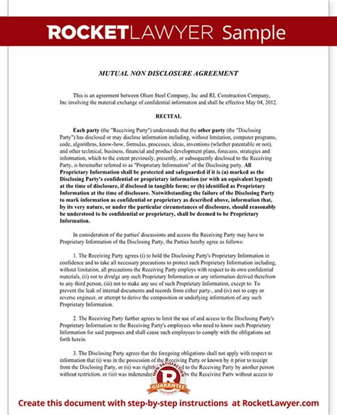 relations agreement template non disclosure agreement nda template