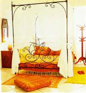 Casablanca Canopy Bedroom Set Wrought Iron Bed Moroccan King Size Bed Frame