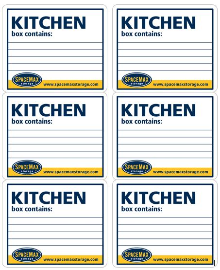 moving box labels template free printable organizing label templates