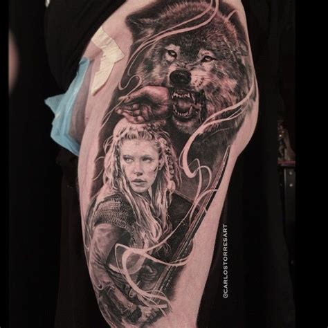 viking tattoo back pieces carlos torres fenris wolf and vikings mythology piece