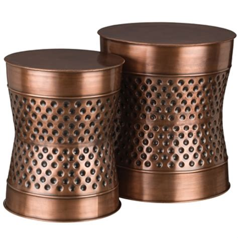 Dot Copper Stool by Copper Dot Garden Stools Planters Set Of 2 Only 224