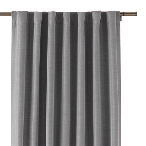 Home Decorators Curtains Home Decorators Collection Gray Room Darkening Back Tab Curtain 1623966 The Home Depot