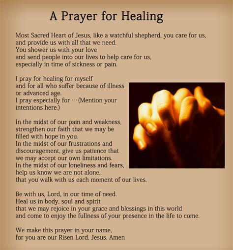 comforting words for sick family member prayers for healing cure the sick with prayer