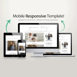 mobile responsive design template template fashion templates