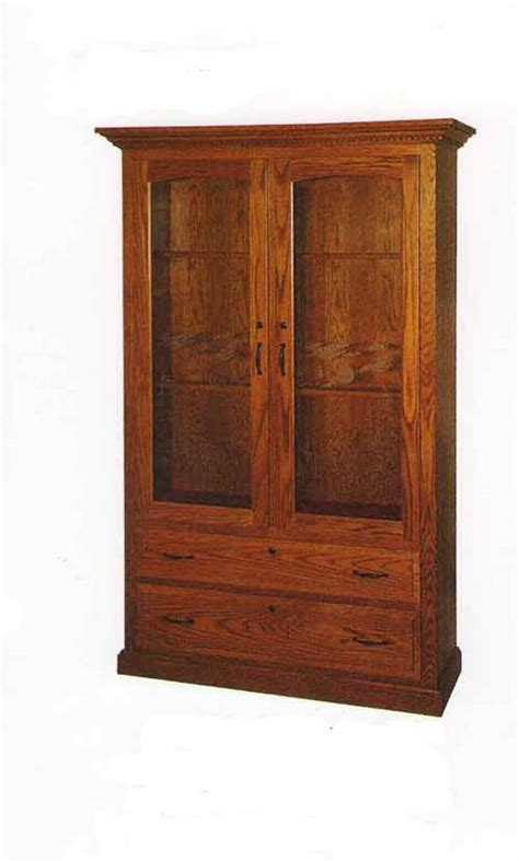 double door wood gun cabinet all gun cabinets the amish market amish crafted fine