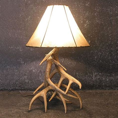 Whitetail Antler Chandelier Faux Whitetail Three Antler Table Lamp