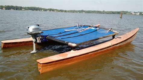cheap kit boats convert a hobie cat from sail to power cheap pontoon boat