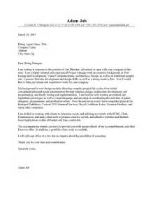 Cover Letter For Unadvertised Position Sle by Director Cover Letter Director Cover Letter