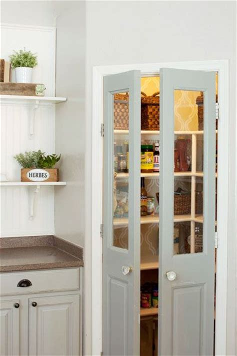 Small Corner Pantry by Decorated Mantel Add Character With Unique Pantry Doors
