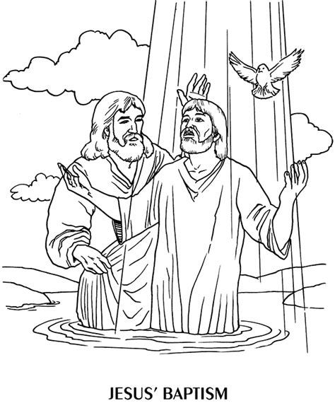 Baptism Of Jesus Coloring Page the baptist coloring pages
