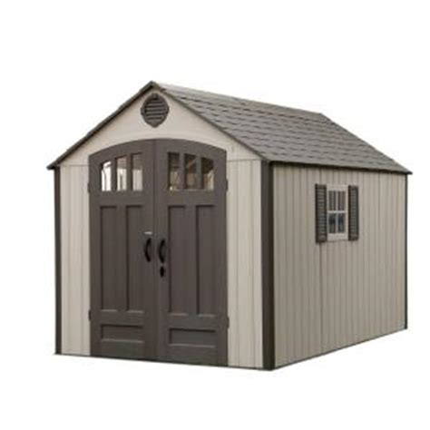 Home Depot Sheds Sale by Lifetime 8 Ft X 12 5 Ft Storage Shed With Vertical