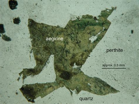aegirine thin section index of geosciences petrology petrography aegirine