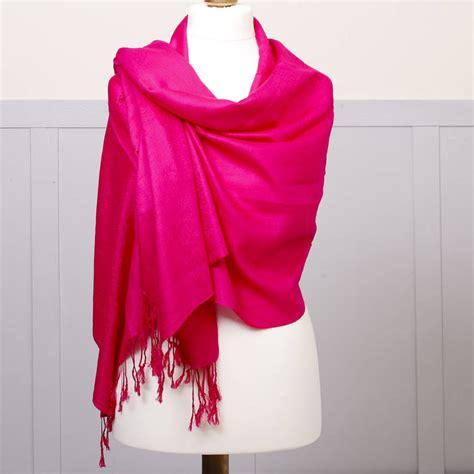 Luxury Pink luxury fuchsia pink pashmina shawl by dibor