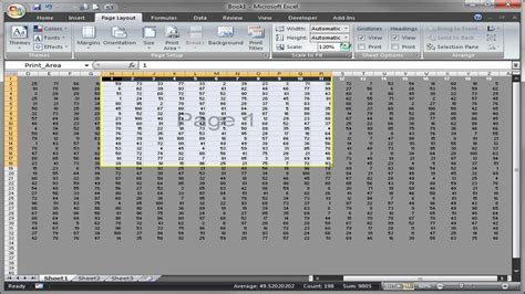 adjust printable area excel excel set print area youtube